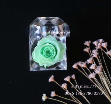 Preserved rose in Crystal Ring Box-13