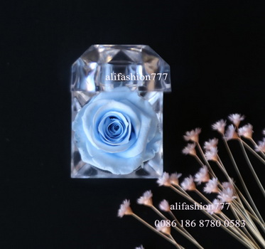 Preserved rose in Crystal Ring Box-06