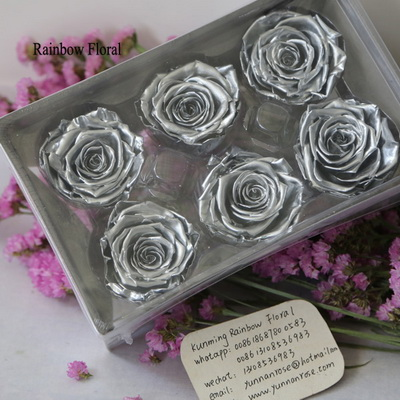 5-6CM (6pcs-box) Solid color preserved rose head-02