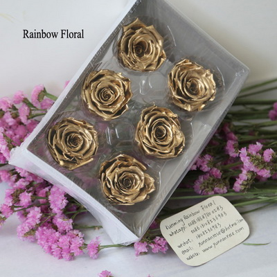 5-6CM (6pcs-box) Solid color preserved rose head-01