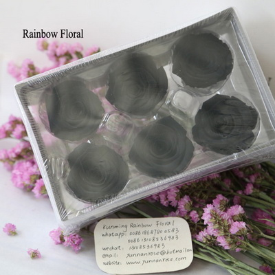5-6CM (6pcs-box) Solid color preserved rose head-15