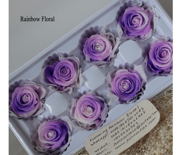 4-5CM (8pcs-box) Bi-color preserved rose head-04